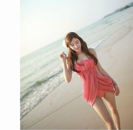 Wholesale Sexy Swimsuit Cover Belly - 2015 Korea was thin cover belly split skirt small chest gather swimsuit female noble sexy spa swimsuit wholesale A062345