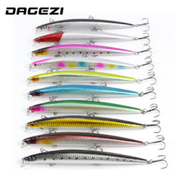 Wholesale Paintings Big Eyes - Super Big 10Pcs Lot 18Cm 23G Fishing Lure Hard Bait Artificial Baits Laser Painting Minnow 3D Eyes Fishing Wobbler Pesca