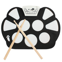 Wholesale Digital Electronic Drum Pad - Wholesale-New Arrival Digital Portable Convenient 9 Pad USB9 Pad Musical Instrument Electronic Roll-up Drum Kit