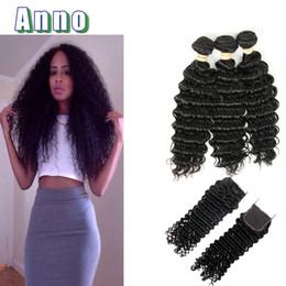 Wholesale 32 Extensions Real Hair - 2017 Real Peruvian Virgin Hair Peruvian Deep Wave Bulk Human Hair Wet And Weave 7a Crochet Extensions