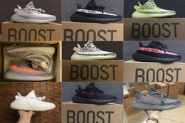 Wholesale Black White Womens - 2017 Mens and Womens Running Shoes Boost 350 V2 SPLY-350 Semi Frozen Yellow Primenkit Beluga 2.0 Cream White Zebra Sneakers Boosts US13