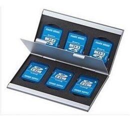 2019 память на карте памяти Мода алюминиевый 6x SD SDHC MMC карты памяти коробка для хранения чехол держатель для Canon Nikon Sony дешево память на карте памяти