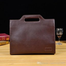 Wholesale Type Briefcases - The Original Design Brand New Fashion Bag Men Crazy Horse Leather Bag Type Portable Briefcase Manufacturers Tideing Mens Casual Business