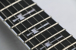 Wholesale Black Fret Ebony Guitar - Wholesale-Free Shipping Top Quality 24 frets Ebony Fretboard Guitar Tony Iommi Signature SG Electric Guitar Black Lacquer