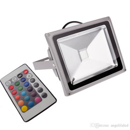 Wholesale Christmas Flood Lights - Color Changing Wall Washer Garden Yard LED Waterproof Flood Light Remote Controller 16 Colors 4 Modes Floodlight Christmas Atmosphere Lights