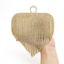 Wholesale Vintage Rhinestone Clutch - NEW Tassel Rhinestones Clutch Women Evening Bags Beaded Luxury Ladies Handbags Pearl Golden Vintage Evening Bag