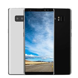 Wholesale Real Mobile Phone - Note8 6.2Inch Cellphone 1GB Ram 8GB Rom MTK6580A Quad Core Mobile Phone 1280*720 Real fingerprint Sealed Box show 4G 64G In stock