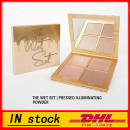 Wholesale Wet Satin - NEW! kylie jenner Bronzers & Highlighters kylie the wet set palette 4 colors highlight palette DHL free shipping