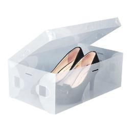 Wholesale Transparent Foldable Shoe Box - Wholesale-Stackable Foldable Clear Plastic Shoe Storage Box Transparent ShoeBox Holder
