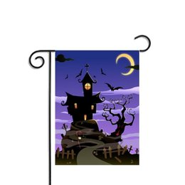 Wholesale Pirate Party Flags - Flags Halloween Supplies Decoration Bat Human Skull Pirate Home Decor Ornament Garden Party Outdoor Polyester Banner Decorative Hanging Flag