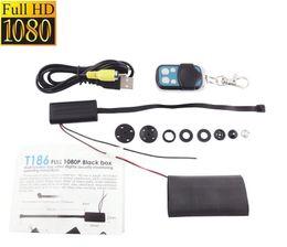 Wholesale Video Modules - Spy cameras mini Hidden buttons Camera T186 HD 1080P Video DIY Module Mini DV DVR CCTV Security camcorders Remote Control free shipping