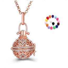 2019 jóias bola de algodão Perfume da moda Óleo Essencial Difusor Medalhão Colar Pingente de Encantos Abertos com cadeia 1 sentiu Bola de Algodão DIY Gravidez Som Jóias desconto jóias bola de algodão