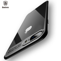Wholesale Baseus Iphone Case - Baseus Luxury Case For iPhone 7 6 6s Ultra Thin Capinhas PC & TPU Silicone Cover Case For iPhone 7 6 s 6s Plus Coque Fundas