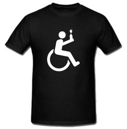 Wholesale Dry Chair - Wheel Chair Riot Revolution Anarchy T Shirt Tee Men T-Shirt Lowest Price 100 % Cotton Interesting