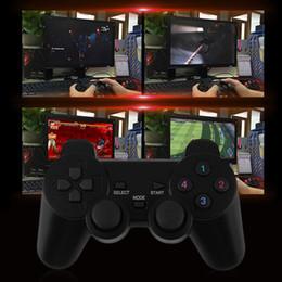 Joystick duplo pc sem fio on-line-2x 2.4G USB Sem Fio Dupla Vibração Gamepad Controlador Joystick Com 256 nível 3D Vara Analógica Para PC Portátil