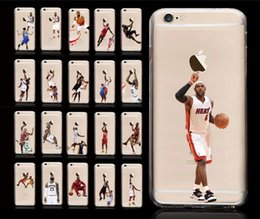 Wholesale Character Phone Cases - Star Phone Case USA Basketball Sport Character Matte PC Hard Back Case Cover for iPhone 6 6s Plus