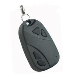 Wholesale Security Recorders - 2pcs HD 720P Mini Car Key Chain DVR Camera HD Video Recorder Mini KeyChain Portable Candid Camera Surveillance&Security Camcorde