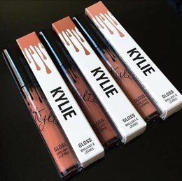 Wholesale Makeup Kit Products - Newest Kylie Lip Kit by kylie Jenner Lipstick With Lip Gloss Liquid Matte Lasting Makeup 12 Colors Lip Liner Brand All products are stock
