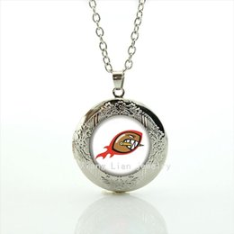 Wholesale Crystal Jewelry For Kids - 2016 Trendy locket necklaces Pendants sport rugby jewelry football sport accessory gift for children and kids NF045