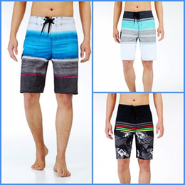 Wholesale Shorts For Swim - New Men's Swimwear Shorts with Tie Waist Breathable Swim Trunks Shorts Boxers for Men MK