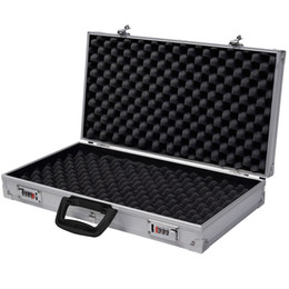 Aluminium New Encadré Verrouillage Pistolet HandGun Lock Box Hard Storage Carry Case ? partir de fabricateur