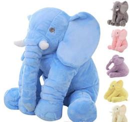 60 cm moda bambino animale stile elefante bambola farcito elefante peluche cuscino giocattolo per bambini per la camera dei bambini decorazione del letto giocattoli 5 colori b502 da