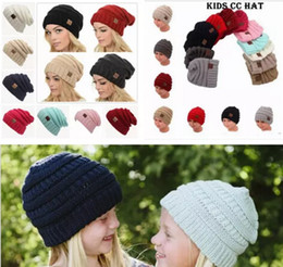 Wholesale Derby Beanie Babies - Parents Kids CC Hats Baby Moms Winter Knit Hats Warm Hoods Skulls Hooded Hats Hoods 10 pcs