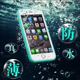 Wholesale Cases Phone5 - Waterproof transparent Case for iPhone 5 5S 6 6s plus 6plus Phone Bag Cover coque i phone5 phone6 phone6s plus capa para 6plus