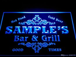 Wholesale Bar Restaurant Names - DZ058-b Name Personalized Custom Family Bar & Grill Beer Home Gift Neon Sign