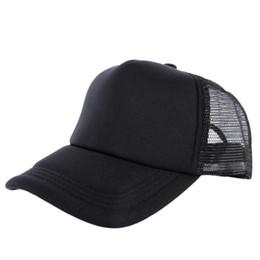 Wholesale Blank Ball Caps Wholesale - Wholesale-Cozy Unisex Attractive Casual Men Women Summer Hat Solid Baseball Cap Trucker Mesh Blank Visor Hats Adjustable