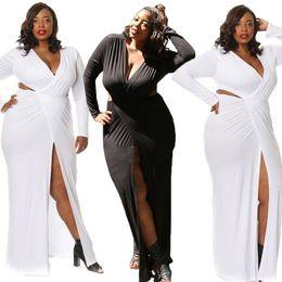 Große Größe Kleid pure sexy Se tiefen Oberschenkel Split - sleeved Kleid Rock sexy Nachtclub Kleid von Fabrikanten