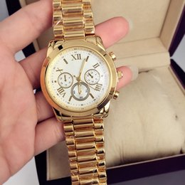 Wholesale Best Women Watches Color - 2018 Brand NEW Fashion luxury women watch Gold color stainless steel Quartz wristwatch Best gifts for Girls Japan Movement watches New Clock