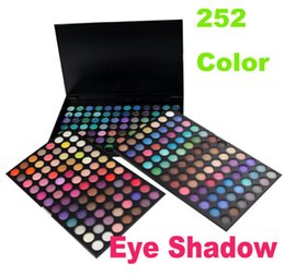 Camadas de paleta de sombra de olho on-line-252 cor Paleta Da Sombra de Maquiagem Sombra de Olho Cosméticos Shimmer terra Fina Cor Misturada 3 Camadas de Sombra Dos Olhos glitter