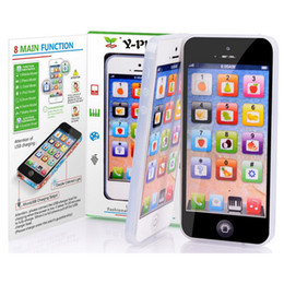 Wholesale Iphone Toy Learning Phone - Kids Toy Phone Y-Phone Educational English Learning Iphone 5 Y-pad For Children