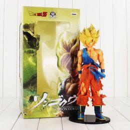 Wholesale Banpresto Figure - 1pcs Super size Dragon Ball Z Son Goku Super Master Stars Piece PVC Figure BANPRESTO Toy Free shipping