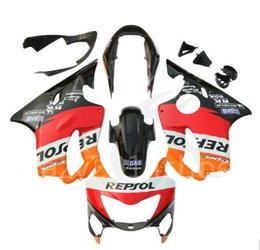 Wholesale 99 Cbr F4 Fairings - 3 free gifts New Injection mold Fairing kit for HONDA CBR600F4 99 00 CBR600 F4 1999 2000 CBR 600 ABS Orange Red