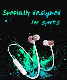 Wholesale Pink Apple Iphone Headphones - X3 Magnetic Bluetooth Headphone Earphone Waterproof Sweatproof Sports Stereo Wireless Headset For Iphone X 6 7 8Plus S8 Universal cell Phone
