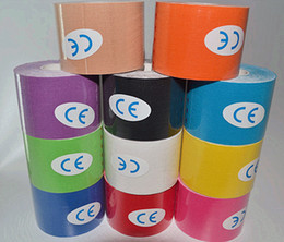 Wholesale Sports Tap - New 2016 Kinesiology Sports Therapy Tape 5cmx5m Kinesio Tape Water Resistant Elastic Therapeutic Tape Muscle Therapeutic Kinesio Tap #0121