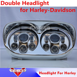 Wholesale Road Glide Led - Harley Daymaker LED Headlight Twin Motorcycle Headlight, H4 Hi low Beam Doub Headlamp, 2nd Harley Road Glide Headlight Led