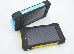 Wholesale External Battery Iphone Solar - 20000mAh Solar Charger 2 USB Port Solar Power Bank Charger External Backup Battery With Retail Box For iPhone Samsung cellphone charger