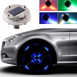 Wholesale Solar Led Wheel Lights - AUDEW 1Pcs Car Auto 4 Colours 12 LED Solar Energy Flash Wheel Light Tire Lamp Decoration Light