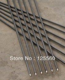 "Wholesale Carbon Arrow Shafts Wholesale - Free shipping 12 pcs carbon arrow turkey feather ID 4.2mm shaft length 30"" spine 700 bullet point target practice archery bow"