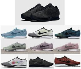 Wholesale Denim Free Shipping Woman - Free Shipping Top Quality Fly Racer Running Shoes For Women & Men,Racers Lightweight Breathable Athletic Outdoor Sneakers Eur Size 5.5-11