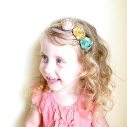 Wholesale Newborn Baby Girl Head Bands - Newborn Princess Headband Baby Hair Accessories Roses Flower Head Bands Infants 2016 Childrens Accessories Girls Headbands Lovekiss C27179