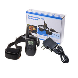 Wholesale Dog Overall - Rechargeable Waterproof Dog Pet Products Training Collar Shock Vibrate LCD Remote for 2 Dogs 300m 100LV 10843 for Dogs Pets overall