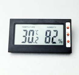 Wholesale Thermometer Big - 100pcs by DHL FEDEX Mini Digital big screen LCD Indoor Convenient 0.1 humidity 1% Temperature Sensor Meter Thermometer Hygrometer Gauge
