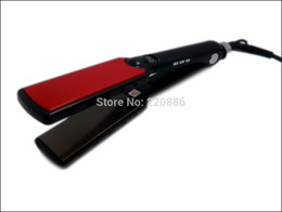 "Wholesale Iron Titanium Hair Straightener - Wholesale-1 1 2"" Wide Plates LED Display Flat Iron Professional Titanium Plates Hair Straightener GIC-HS107 Max.470F   242C Free"