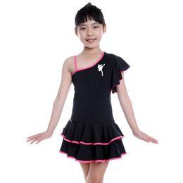Wholesale Kids Tango Dresses - Child Latin Dance Dresses For Sale 8Colors Cha Cha Rumba Samba Ballroom Tango Dance Clothing Kids Dance Costume Girls Dancewear