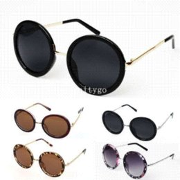Wholesale Cheap Retro Glasses Frames - Fashion Unisex Women Fashion Retro Vintage Style Sunglasses Glasses Round Metal Frame 5 Color Cheap frames decals