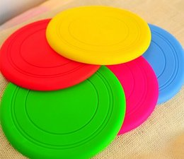 Wholesale fly pets - New Arrive Fantastic Pet Dog Flying Disc Tooth Resistant Training Toy Play Frisbee Tide